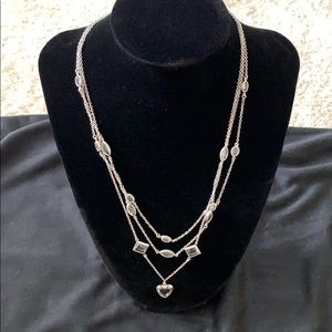 Park lane silver necklace